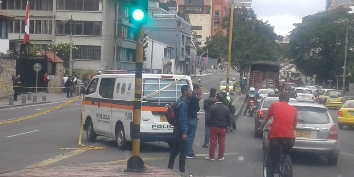 Accidente en la Carrera Séptima bloquea el norte de Bogotá