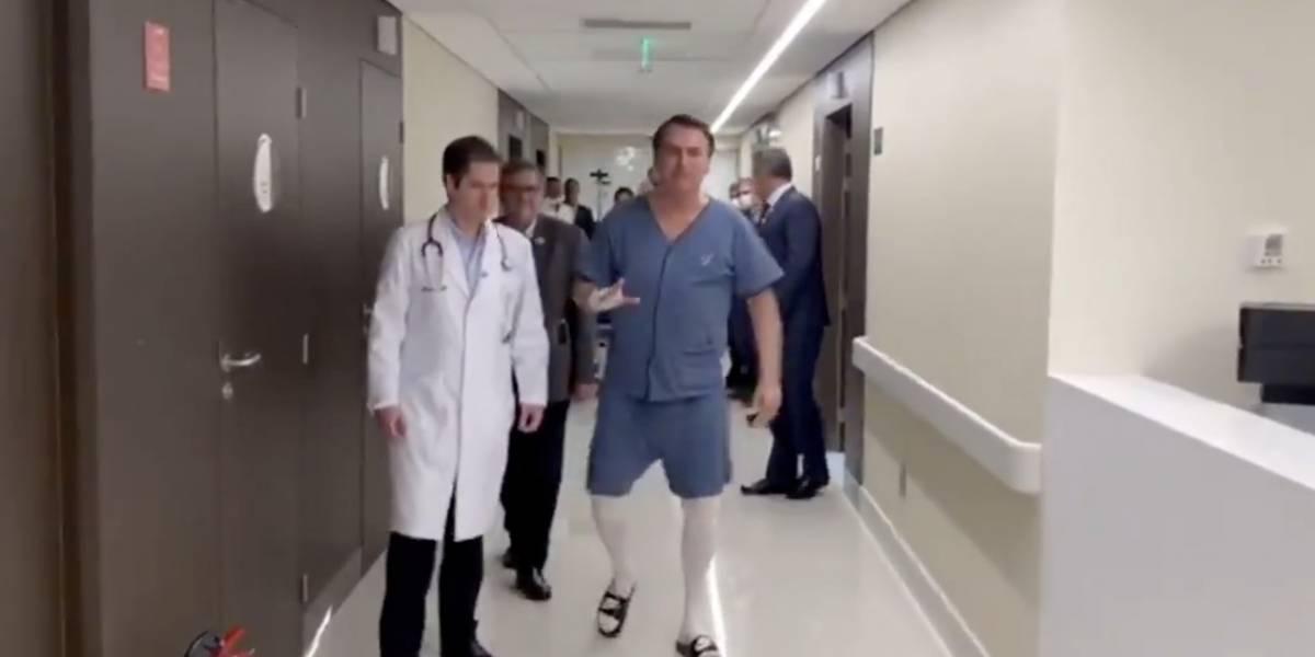 Ainda internado, Bolsonaro reassume funções em hospital