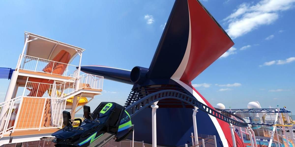 ¡Increíble! Llega primer crucero con montaña rusa dentro del barco