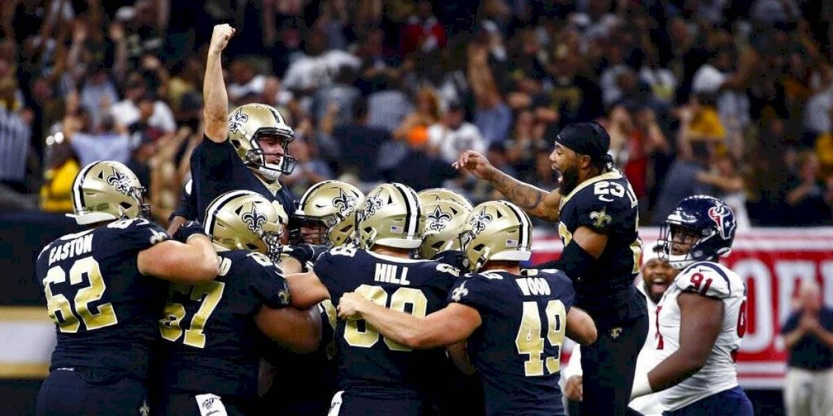 Agónico triunfo de los Saints sobre los Texans