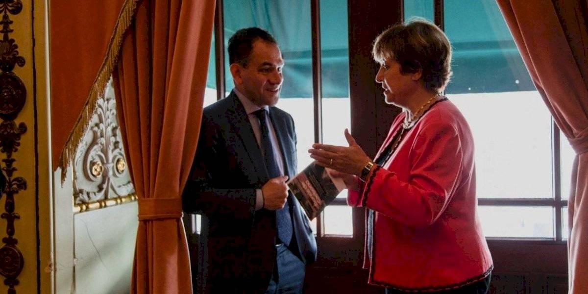 Dialoga Arturo Herrera sobre migración con próxima titular del FMI
