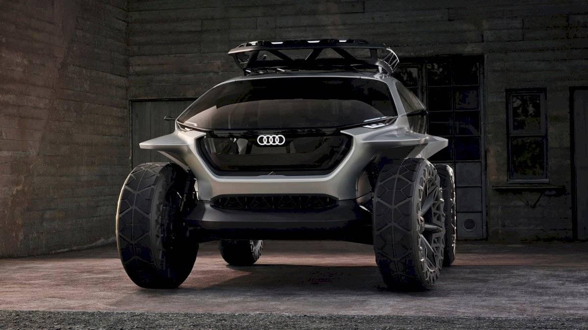 Vista frontal del Audi AI: Trail Quattro Cortesía