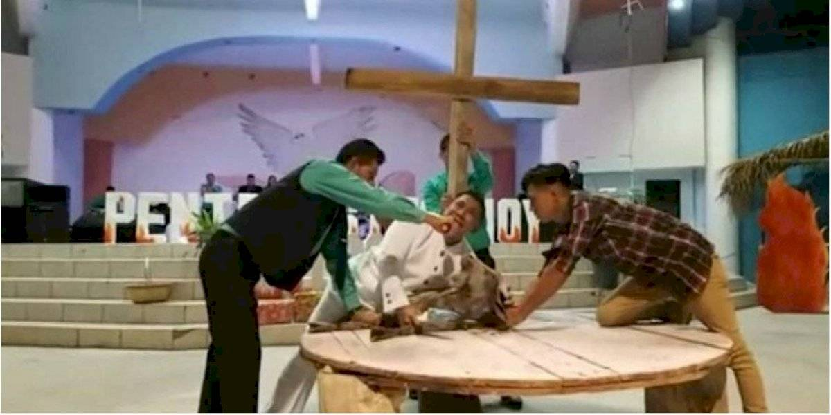 Sanguinario pastor hondureño degolló a una cabra en nombre de Dios
