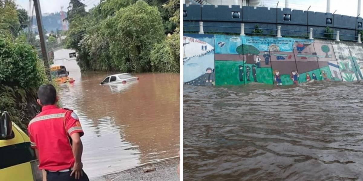 VIDEO. Lluvias provocan inundaciones en varios puntos de la capital