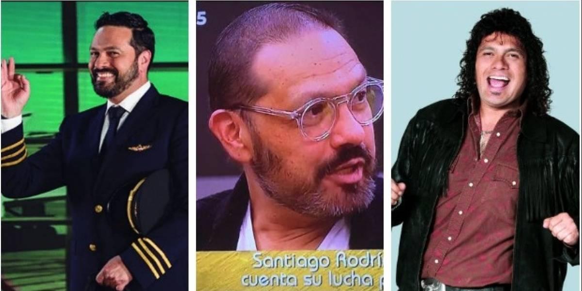 Las conmovedoras fotos de Santiago Rodríguez hablando del cáncer