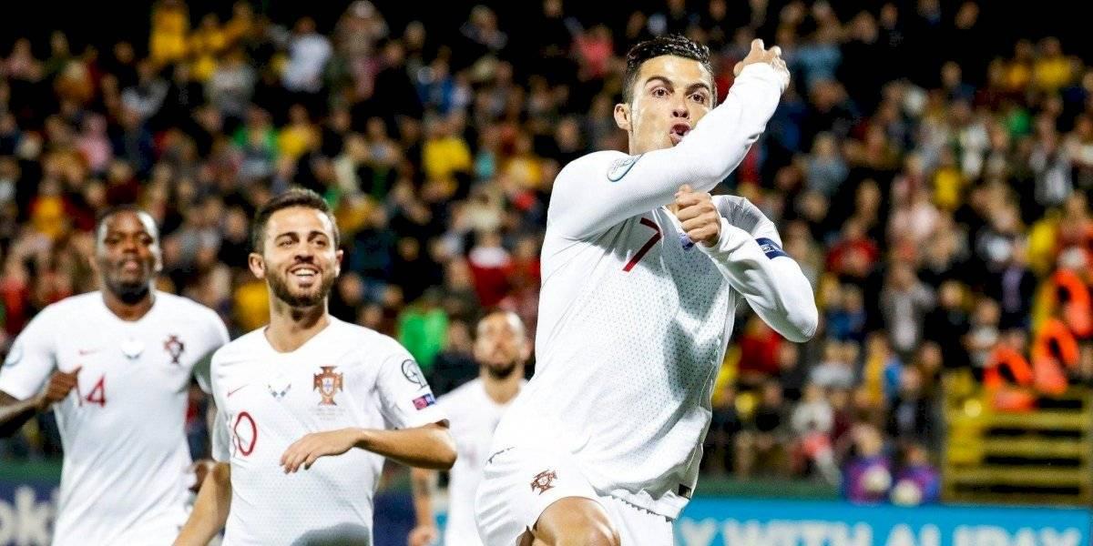 Cristiano Ronaldo metió un póker y comandó la goleada de Portugal en las clasificatorias de la Euro 2020