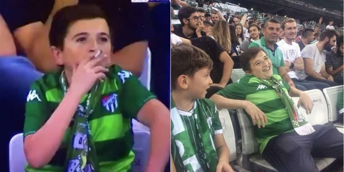 'Menino fumante' de estádio de futebol na verdade tem 36 anos e já é pai