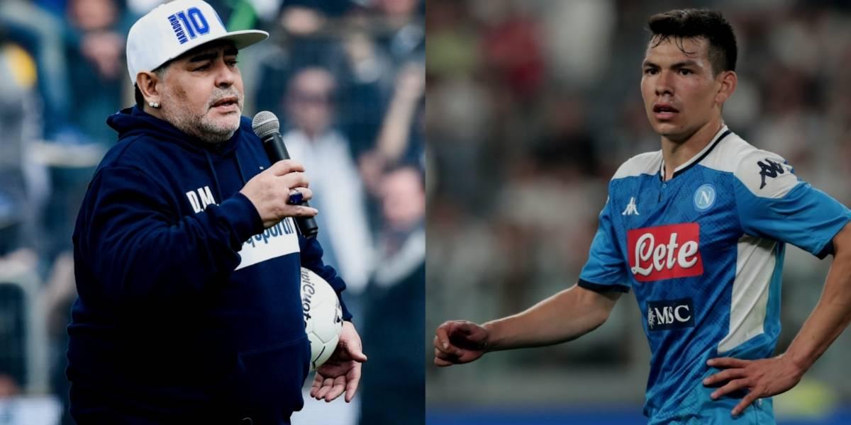 Maradona le da su 'bendición' a Hirving Lozano