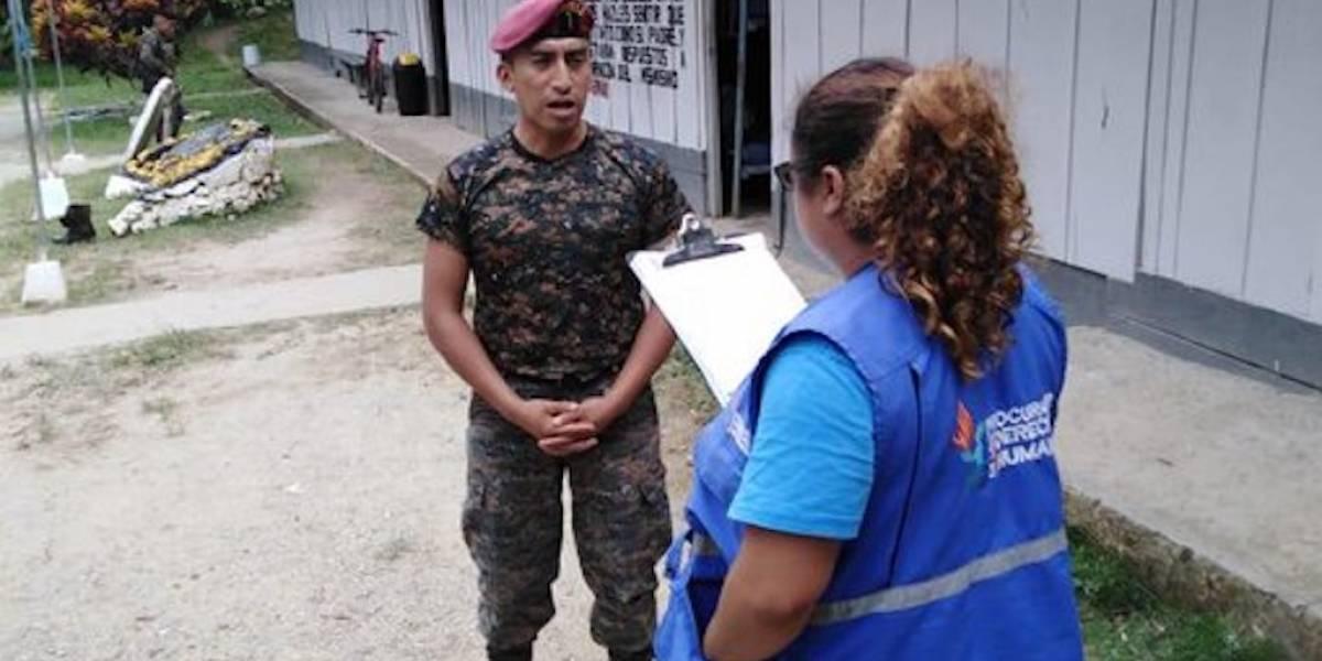 PDH verifica el respeto de garantías en municipios sitiados