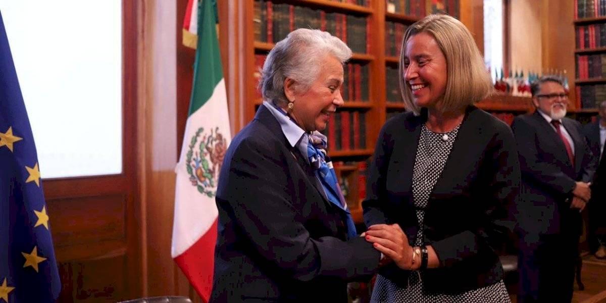 Sánchez Cordero y Federica Mogherini abordan migración en reunión