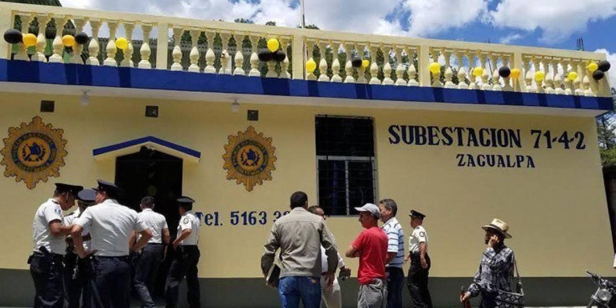Rehabilitan sede de PNC de Zacualpa, destruida tras elecciones de 2011