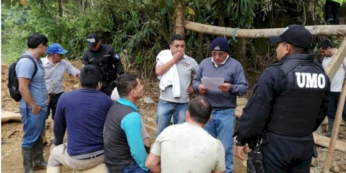 13 detenidos en operativo antiminero