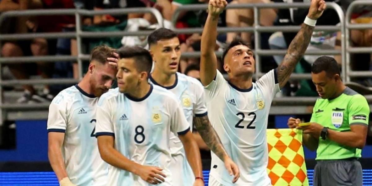 "Sin Messi, Argentina humilla a México y al ""Tata"" Martino"