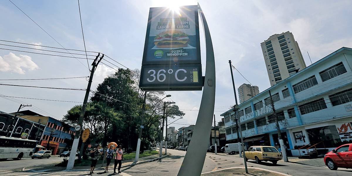 Verão de 2019 foi segundo mais quente da história, atrás de 2016
