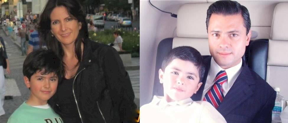 Enrique Peña Nieto y su hijo Diego