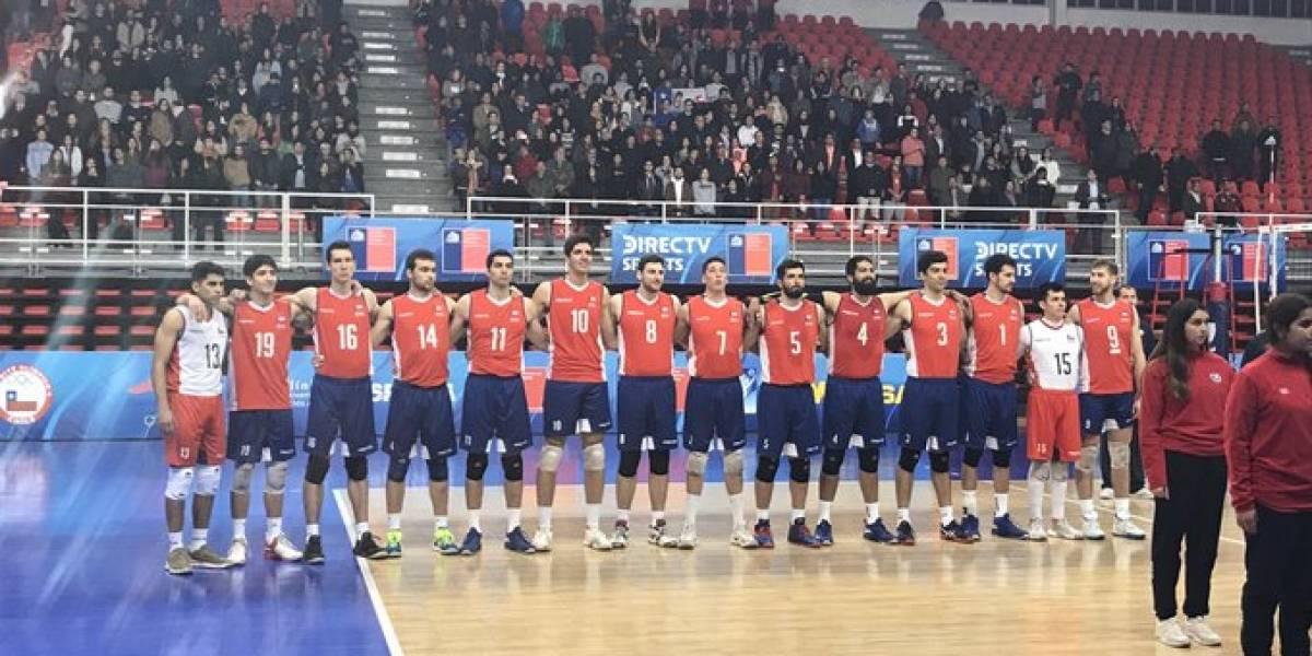 Los éxitos de Mala Junta y el himno a capela le dieron un ambiente futbolero a la trastienda del Sudamericano de voleibol