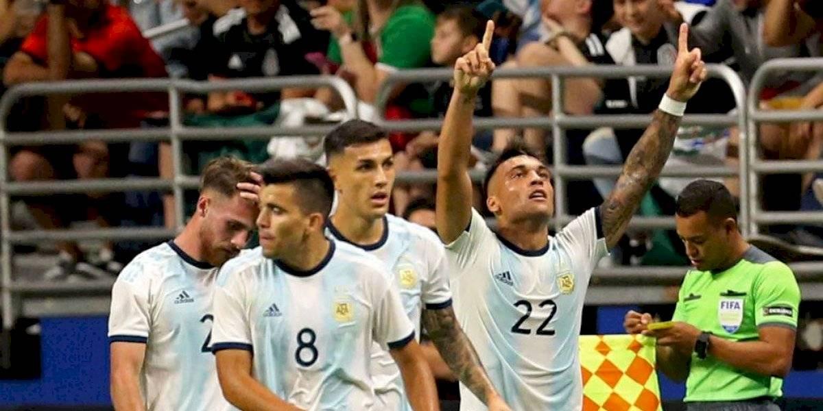 Video: Argentina vapuleó a México con un encendido Lautaro Martínez