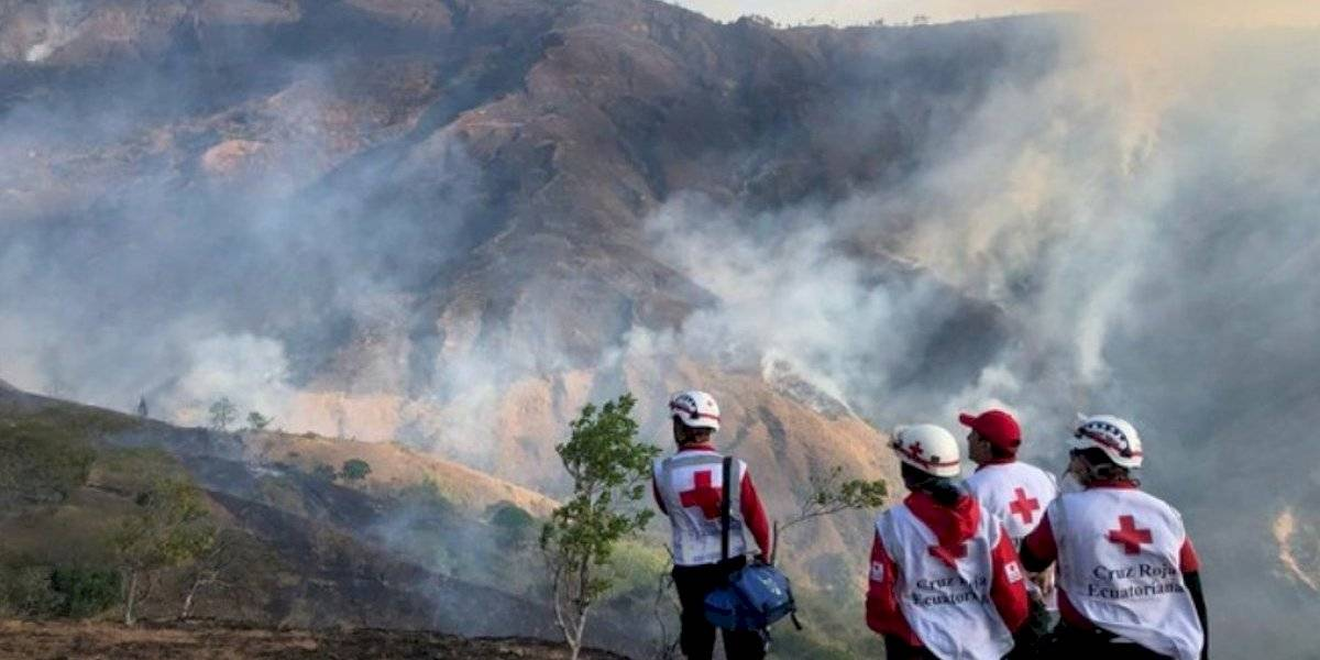 Loja: Controlan el voraz incendio en Quilanga