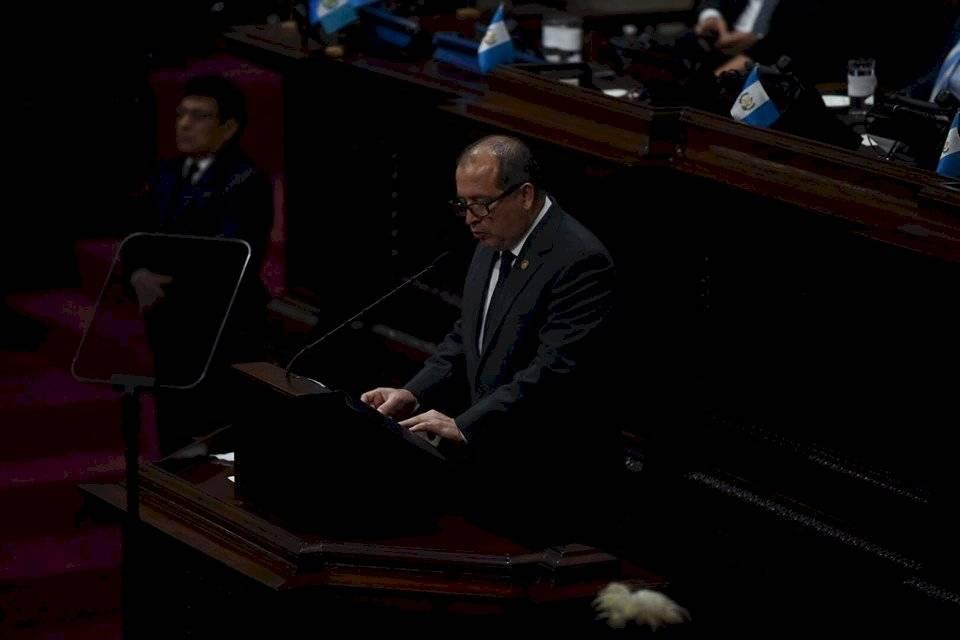 Magistrado Nester Vásquez, presidente del Organismo Judicial. Foto: Oliver de Ros