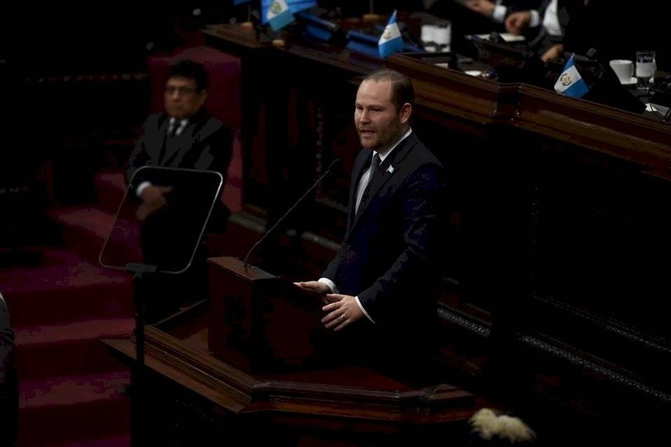 Diputado Álvaro Arzú Escobar, presidente del Congreso. Foto: Oliver de Ros