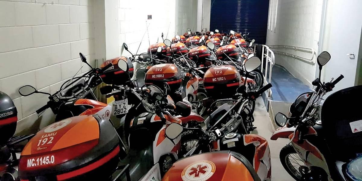 Motos do Samu ficam sem manutenção em São Paulo