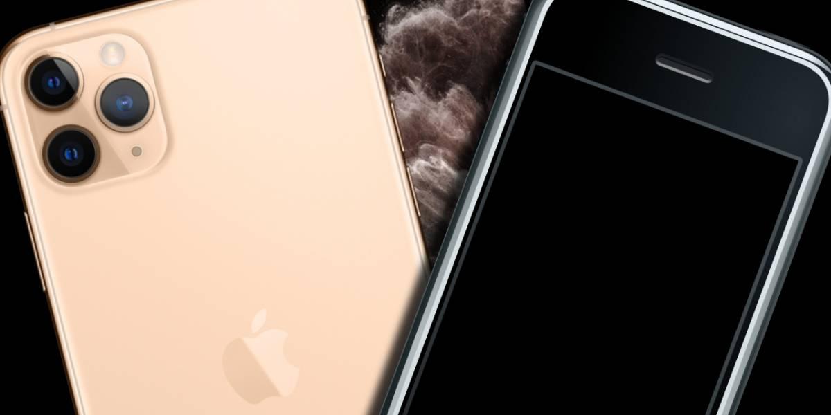 Así de enorme es la diferencia entre el iPhone 11 Pro Max y el primer iPhone de la historia