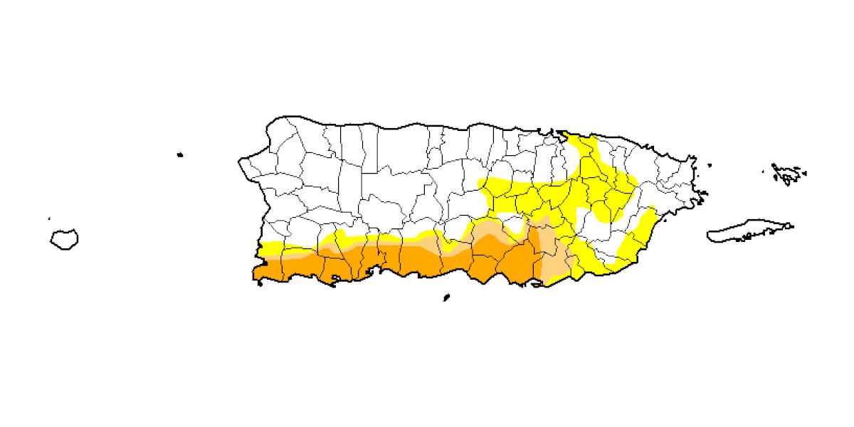 Otra baja leve en sequía anómala y moderada