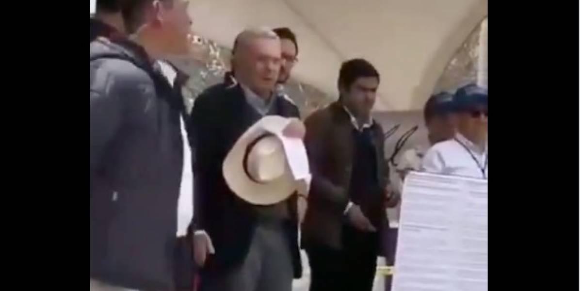 VIDEO: La amenaza que Uribe le hizo a manifestantes de La Calera