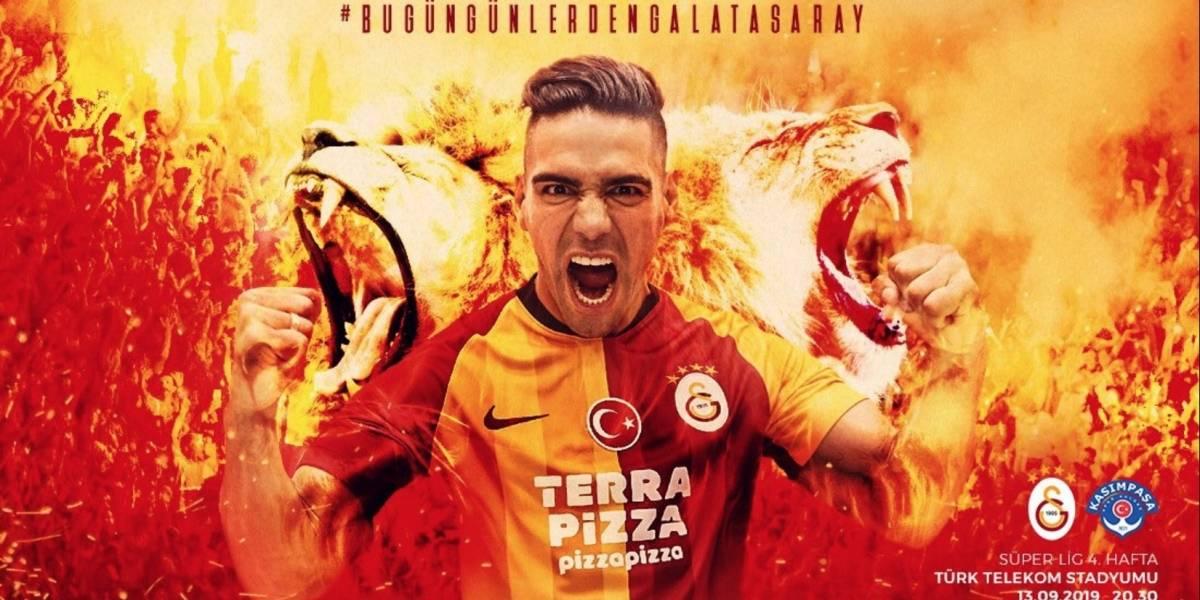 ¡Llegó la hora! Radamel Falcao García debuta con Galatasaray ante Kasimpasa