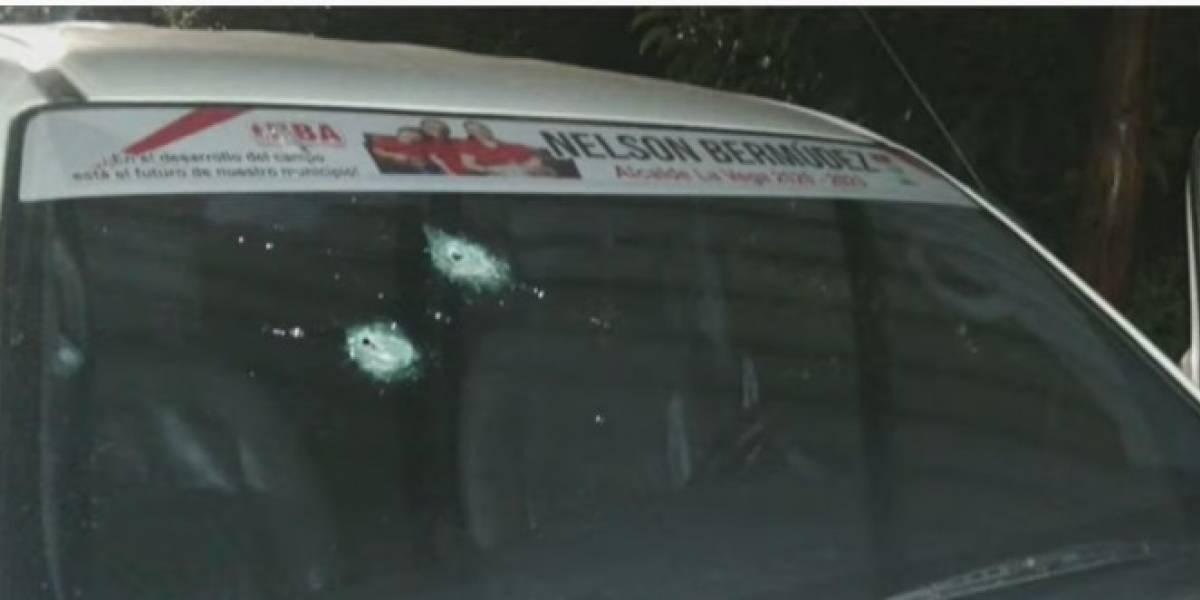Candidato a la Alcaldía sobrevivió a atentado cuando llegaba a su casa