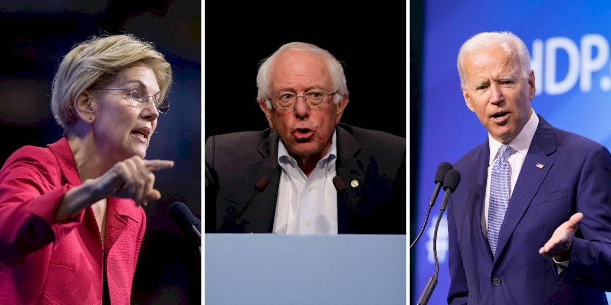 Por primera vez se enfrentan punteros demócratas en debate presidencial
