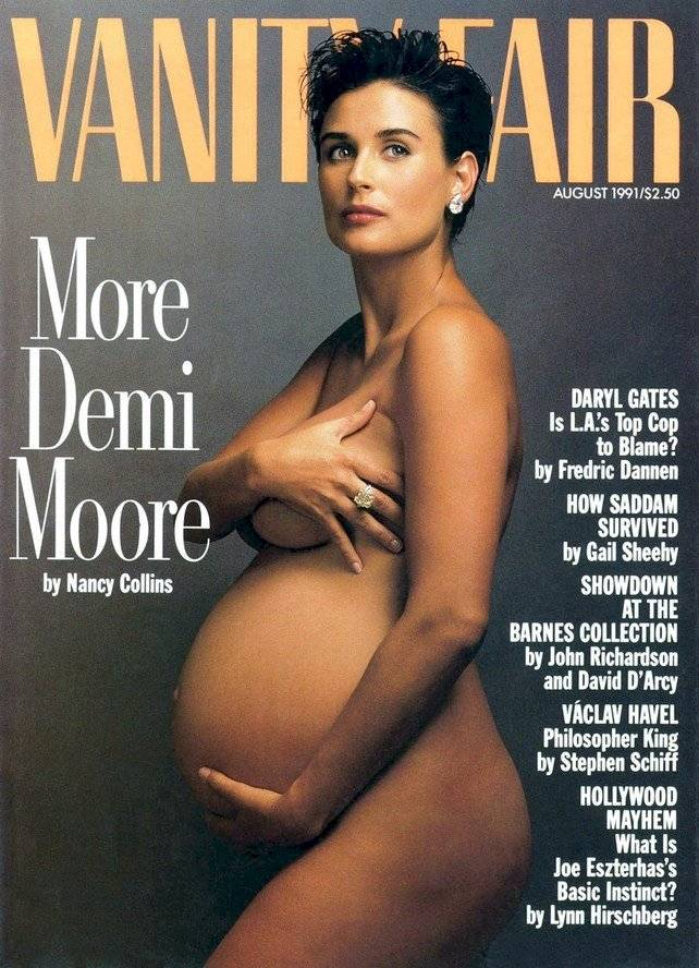Demi Moore foto desnuda embarazada