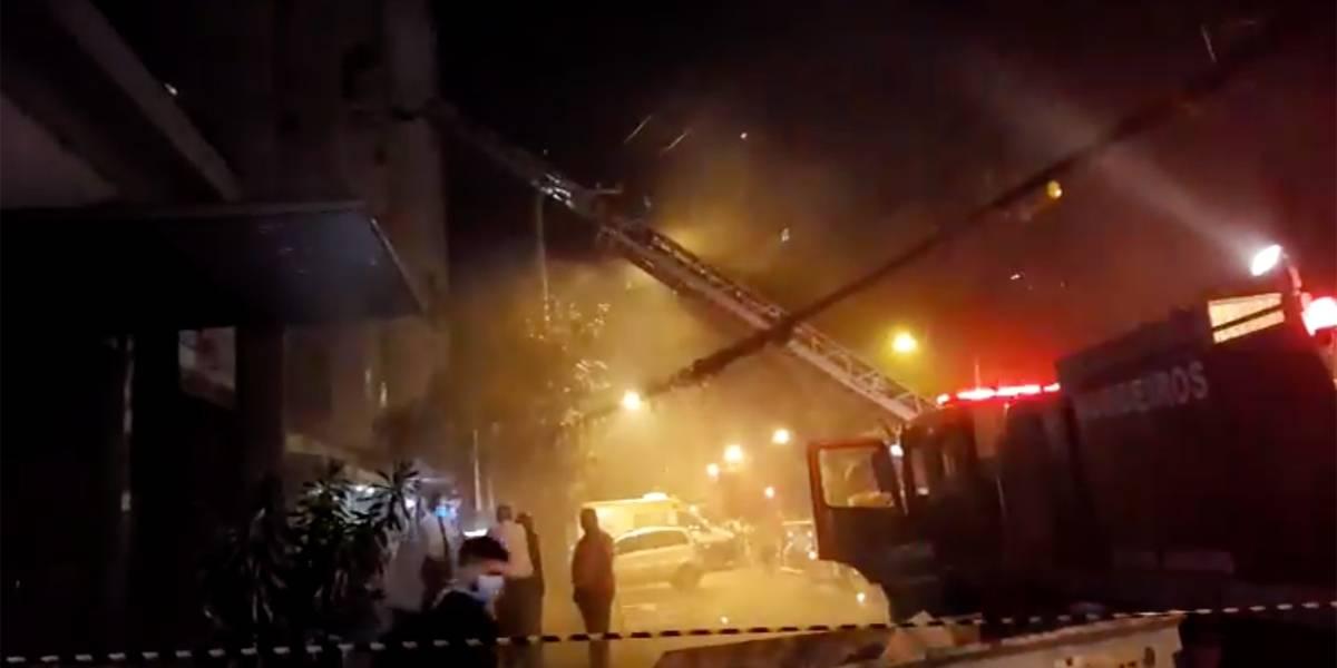 Incêndio atinge hospital na zona norte do Rio de Janeiro