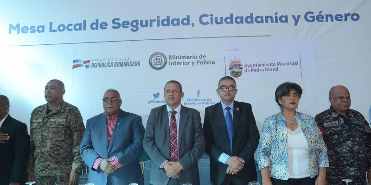MIP instala Mesa Local de Seguridad, Ciudadanía y Género en Pedro Brand