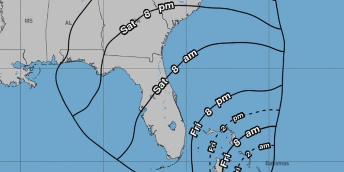 Tormenta tropical amenaza con impactar Las Bahamas