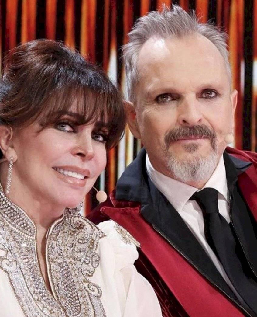 Verónica Castro y Miguel Bosé