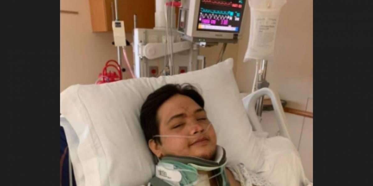 """Quedó """"paralizado"""" luego de que fuera chocado por un conductor ebrio y cuando despertó le dijeron que sus tres pequeñas hijas habían muerto"""