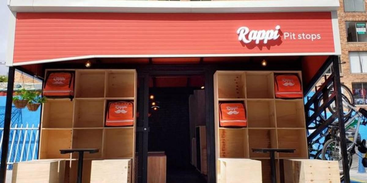 Rappi instala en Colombia los primeros puntos de descanso para sus repartidores