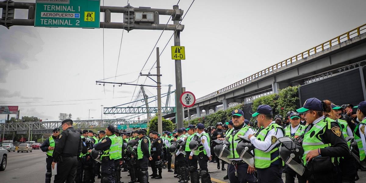 Vías alternas para llegar al aeropuerto por cierre de policías federales