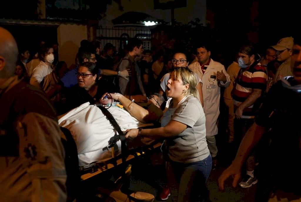 Rescate de heridos en Brasil