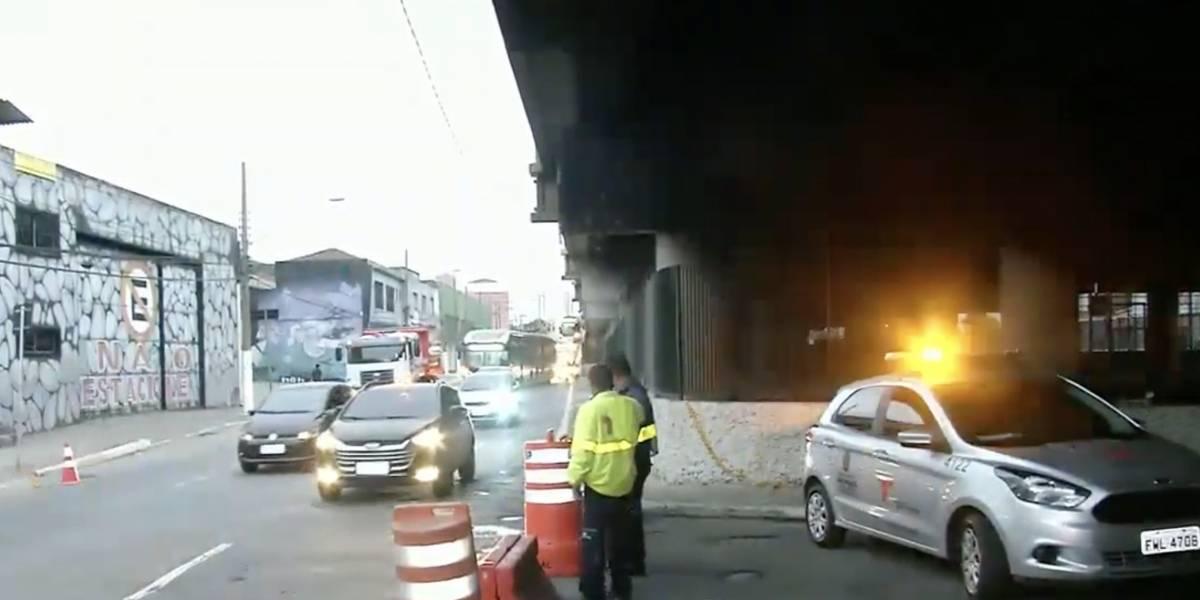 Viaduto Alcântara Machado volta a ser interditado no sentido centro