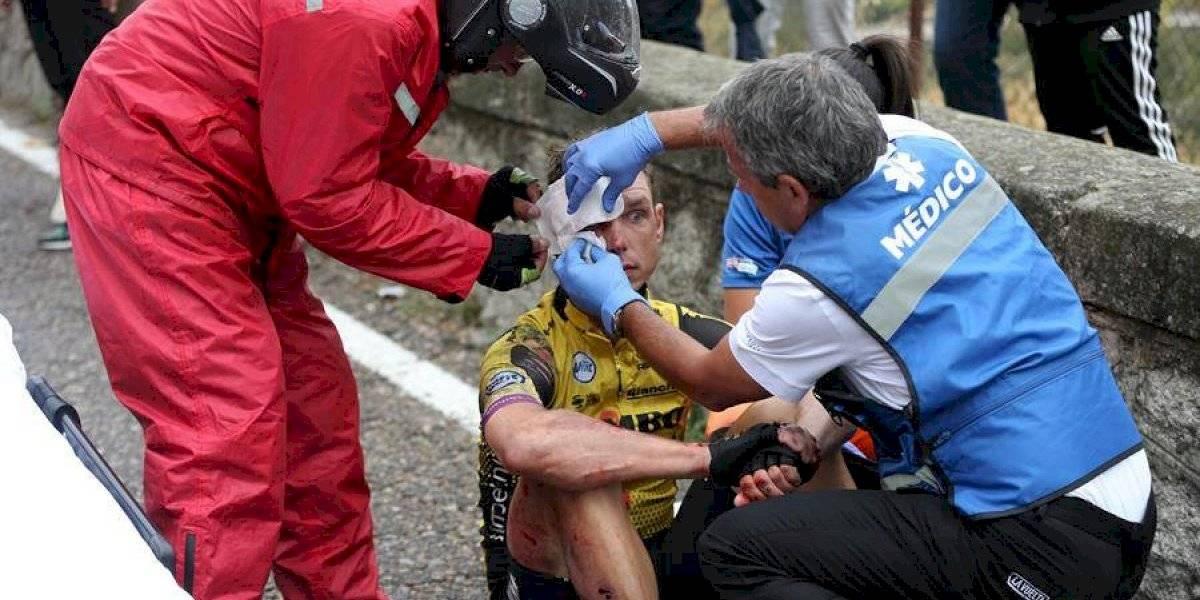 Vuelta 19: Las imágenes y reacciones de la caída ocurrida el viernes 13 de septiembre