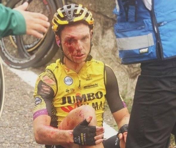Heridos en caída de la Vuelta a España