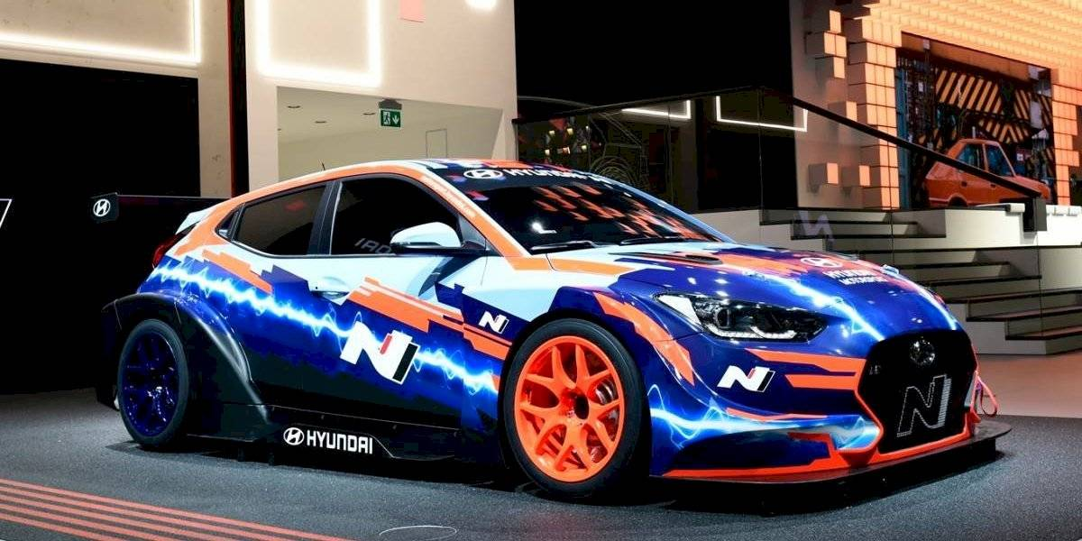 Así es el primer eléctrico de carreras de Hyundai, el Veloster N ETCR