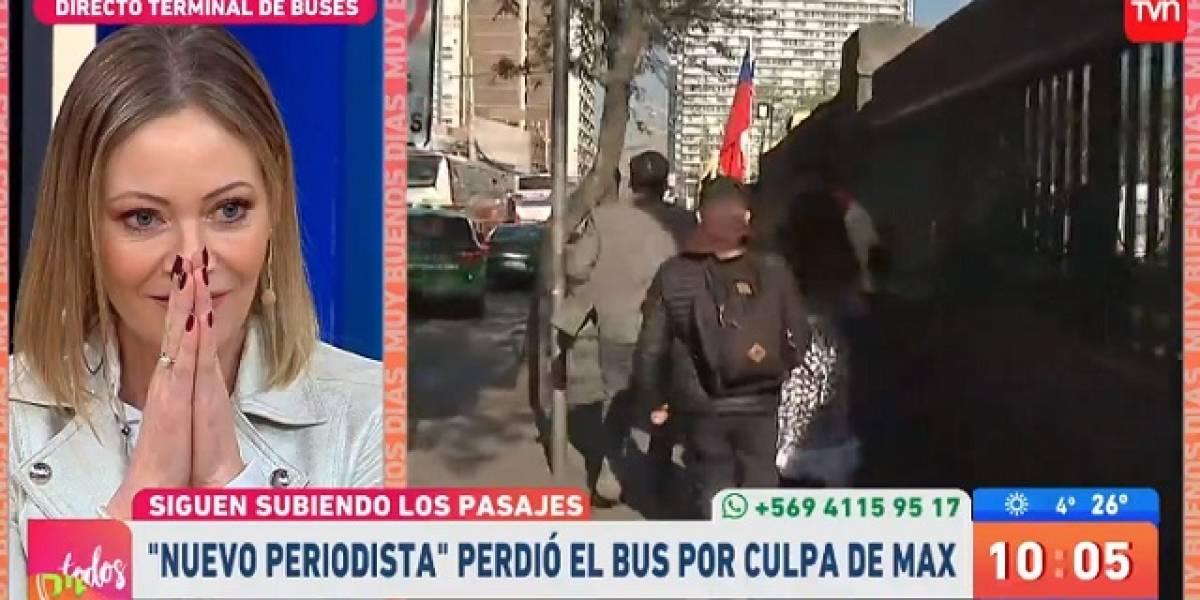 """Joven intentó ser reportero para el """"Muy Buenos Días"""": terminó perdiendo el bus en Estación Central"""
