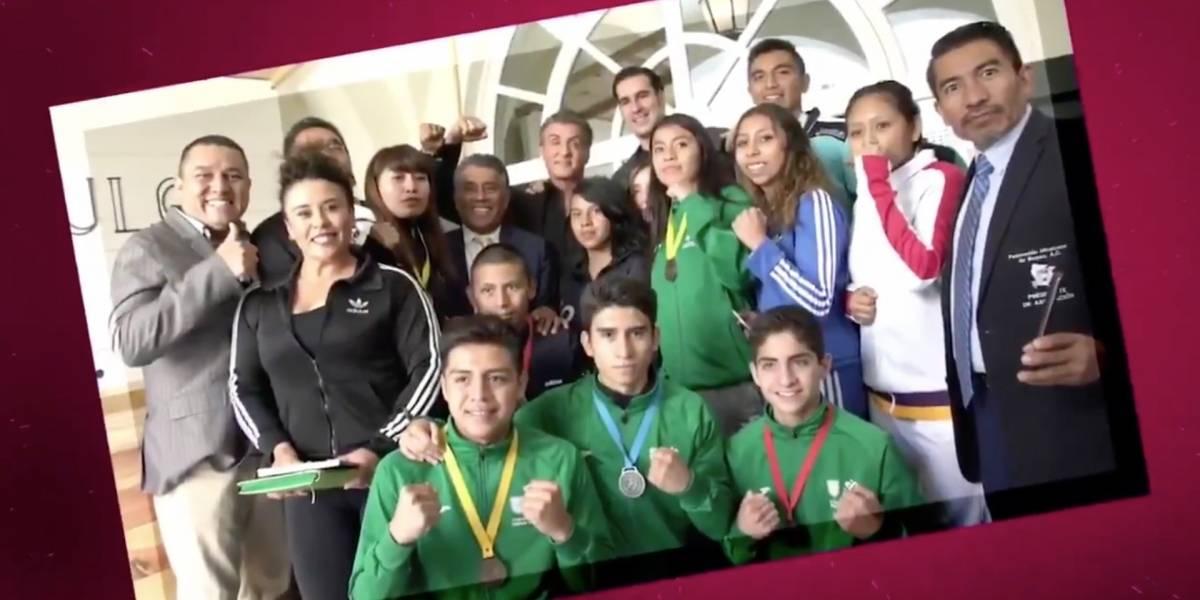 Ya no les hace falta ver más box: Sylvester Stallone visita a boxeadores mexicanos