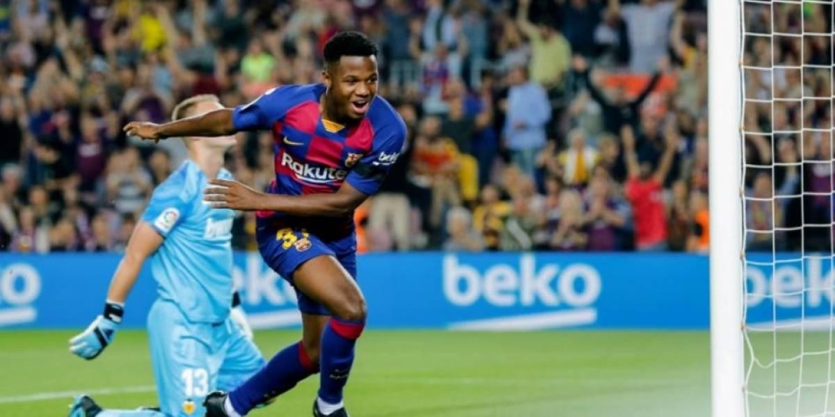 Ansu Fati hace historia en el Barcelona