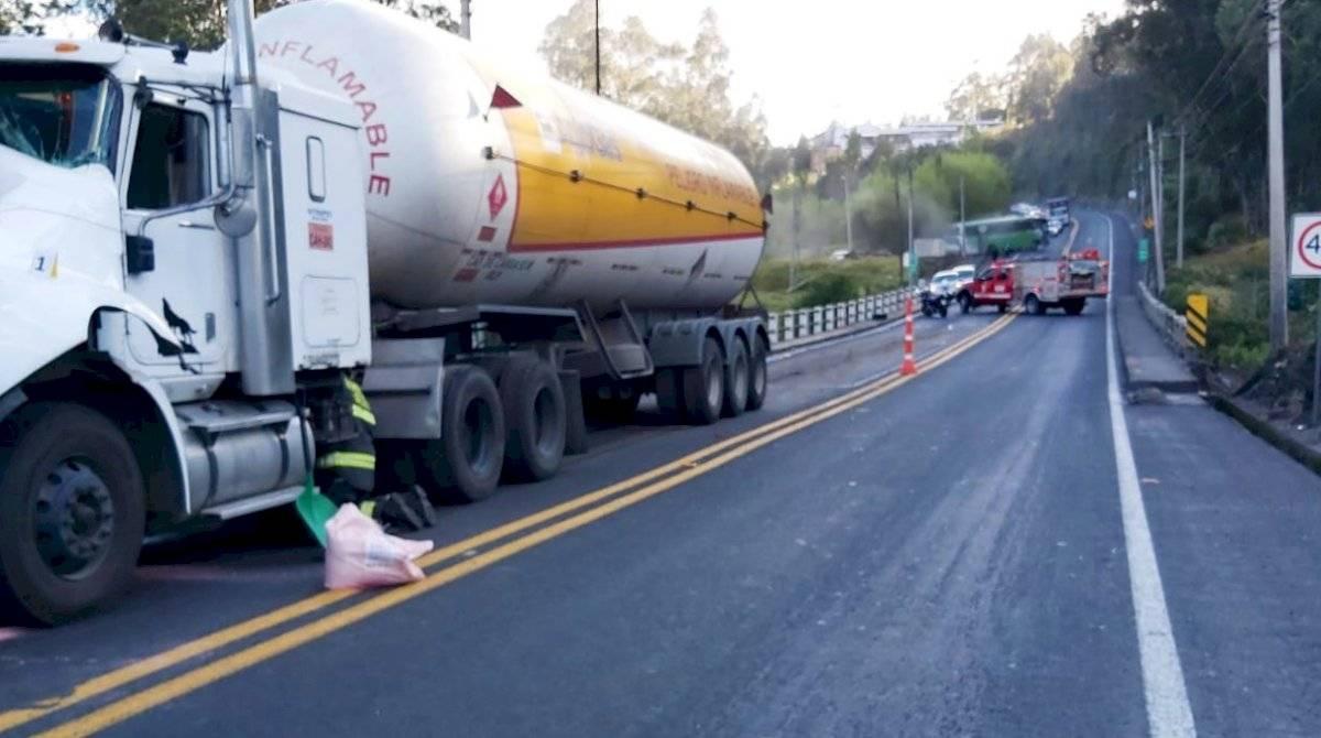 Cinco heridos dejó un accidente de tránsito en el sector de Amaguaña