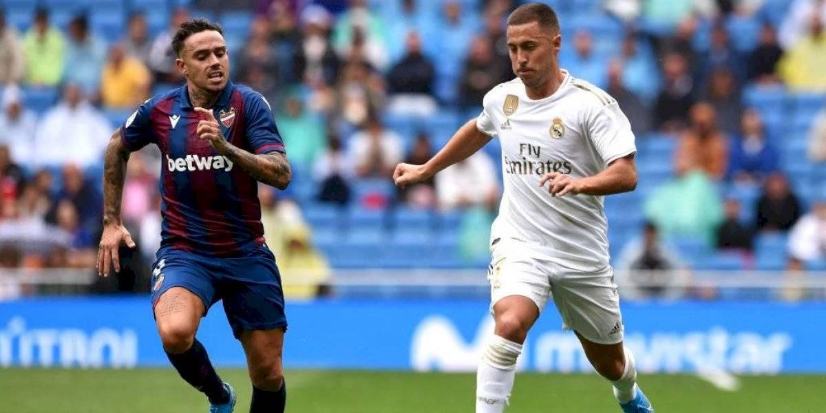 Eden Hazard tuvo su debut oficial en la sufrida victoria de Real Madrid a Levante en España