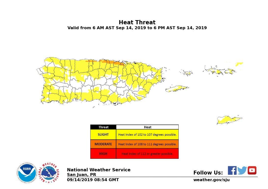 Advertencia calor, 14 septiembre - 112 grados